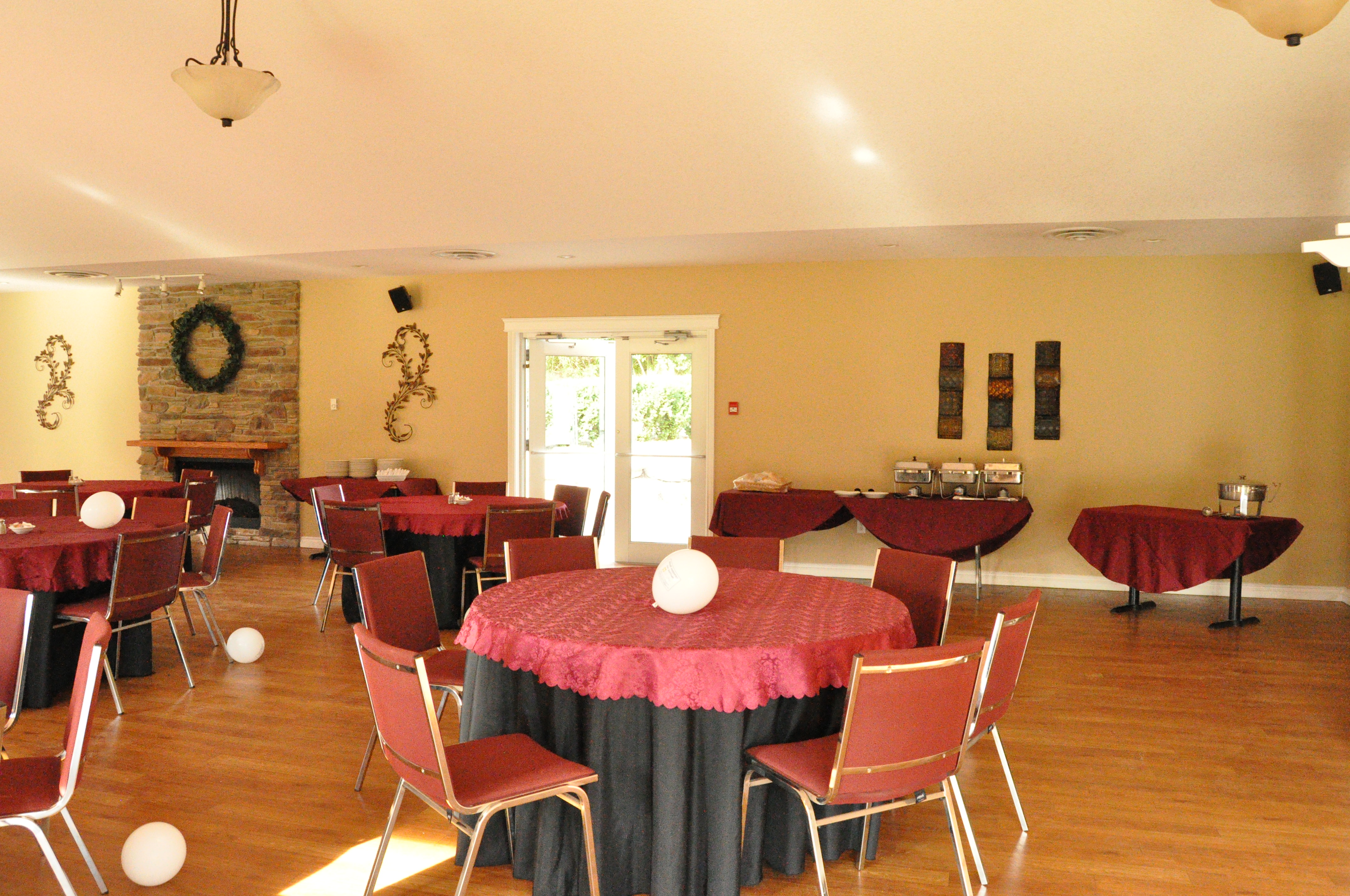 golf course banquet hall, naquet hall port stanley