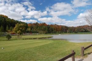 challenging golf course, water hazard, port stanley golf course