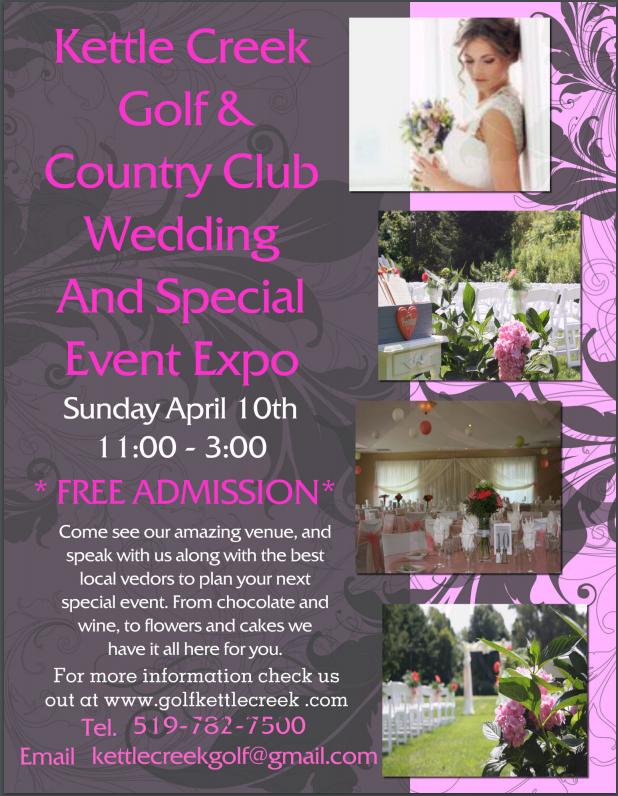 kettle creek wedding expo 2016, weddings port stalnley, golf course weddings, kettle creek weddings